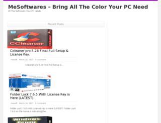 mesoftwares.com screenshot