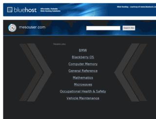 mesouser.com screenshot