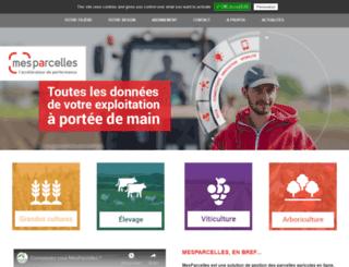 mesparcelles.fr screenshot