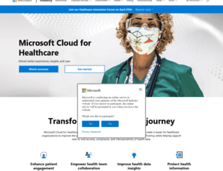 messagecenter.healthvault.com screenshot