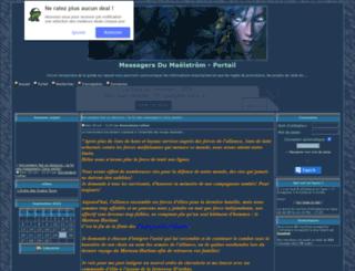 messagersdumaelstrom.frenchboard.com screenshot