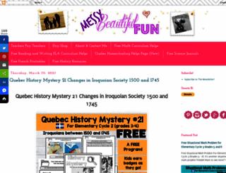 messybeautifulfun.com screenshot