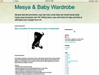 mesyababy.blogspot.com screenshot
