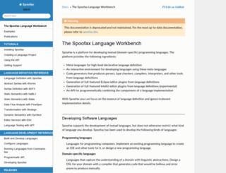 metaborg.org screenshot