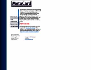 metacard.com screenshot