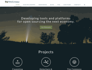 metacurrency.org screenshot