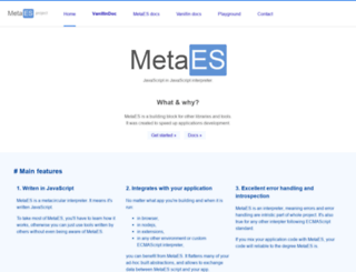 metaes.org screenshot