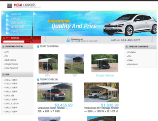 metal-carports.net screenshot