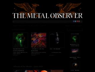 metal-observer.com screenshot
