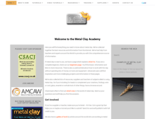 metalclayacademy.com screenshot