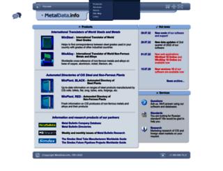 metaldata.info screenshot