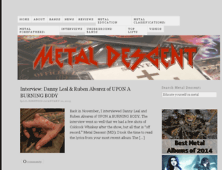 metaldescent.com screenshot