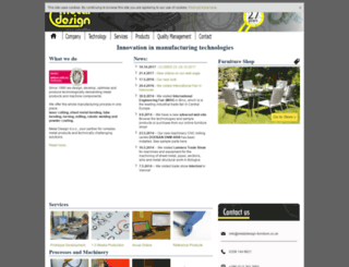 metaldesign-furniture.co.uk screenshot