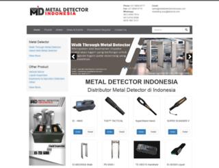 metaldetectorindonesia.com screenshot