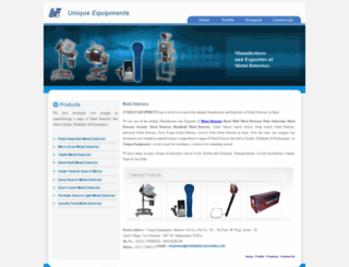 metaldetectorsindia.com screenshot