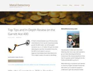 metaldetectory.com screenshot