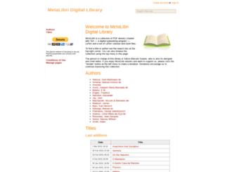 metalibri.wikidot.com screenshot