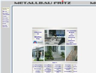 metallbau-fritz.de screenshot