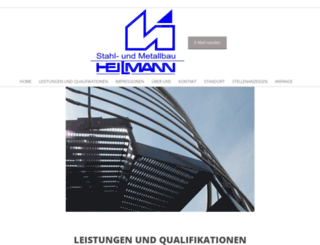 metallbau-heilmann.de screenshot