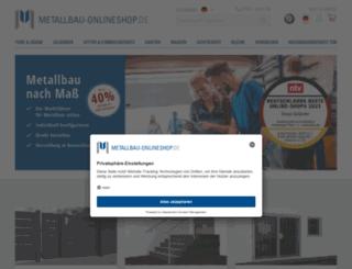 metallbau-onlineshop.de screenshot