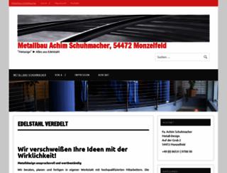 metallbau-schuhmacher.de screenshot