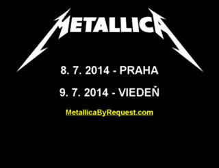 metallica.cz screenshot