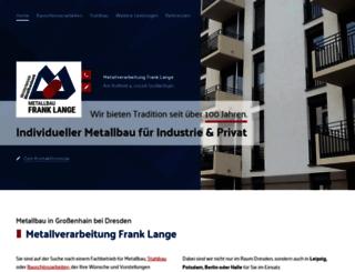 metallverarbeitung-lange.de screenshot