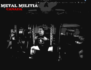 metalmilitia.ca screenshot