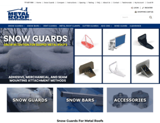 metalroofsnowguards.com screenshot