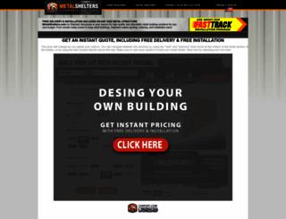 metalshelters.com screenshot