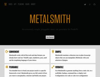 metalsmith.io screenshot
