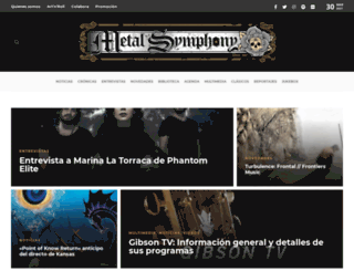 metalsymphony.com screenshot
