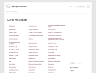 metaphors.com screenshot