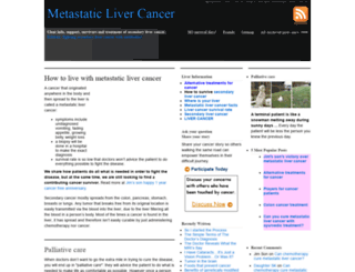 metastaticlivercancer.org screenshot