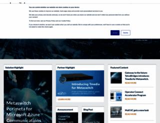 metaswitch.com screenshot