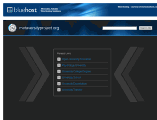 metaversityproject.org screenshot