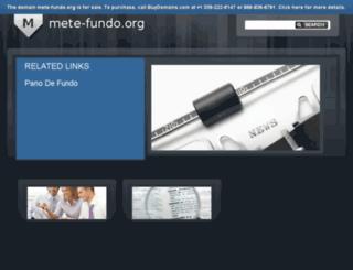 mete-fundo.org screenshot