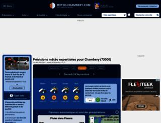 meteo-chambery.com screenshot