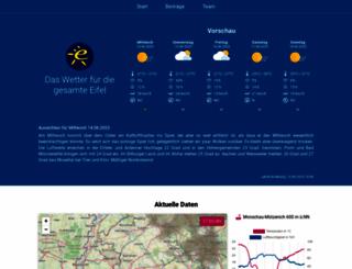 meteo-eifel.de screenshot