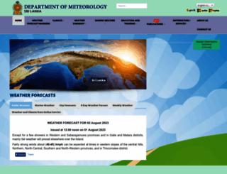 meteo.gov.lk screenshot