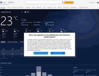 meteo.msn.com screenshot