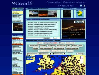meteociel.com screenshot
