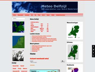 meteodelfzijl.nl screenshot