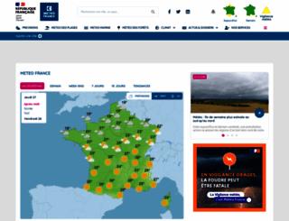 meteofrance.com screenshot