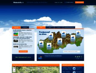 meteoinfo.sk screenshot