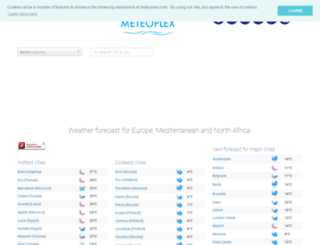 meteoplex.com screenshot