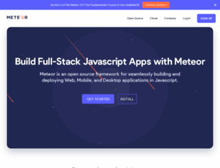 meteor.com screenshot