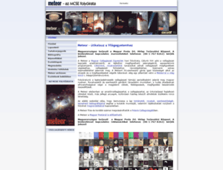 meteor.mcse.hu screenshot