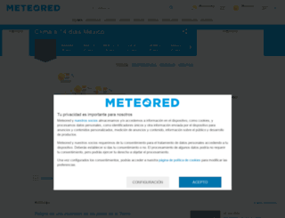 meteored.mx screenshot