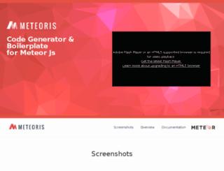 meteoris.me screenshot